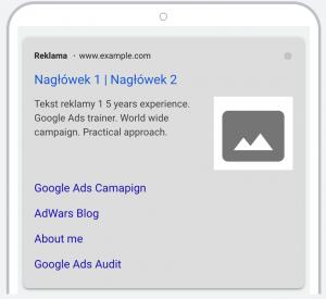Rozszerzenie graficzne reklam tekstowych